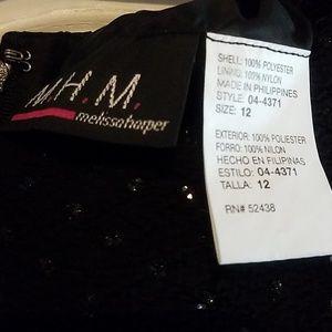 M.H.M. Dresses - Sequined black Evening dress by M.H.M.